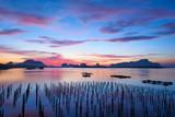 Scene of sunrise at Sam-Chong-Tai, Phang-Nga, Thailand