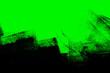 Leinwandbild Motiv green black paint brush strokes background