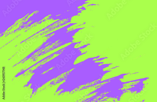 Leinwandbild Motiv violet yellow green paint brush strokes background