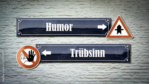canvas print picture Schild 405 - Humor