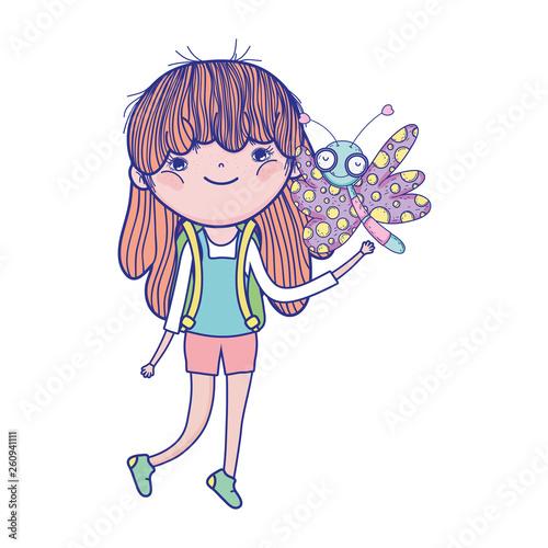 fototapeta na ścianę beautiful girl with butterfly characters