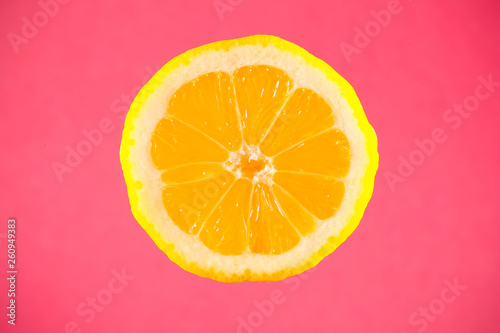 canvas print picture the lemon slice is on the table
