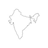 Map black outline India