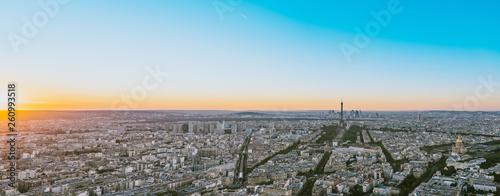 Paris, Eiffel tower at evening, France, Europe - 260993518