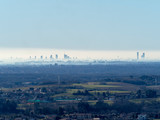 View of Milan from Montevecchia, Italy