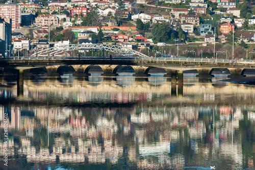 Bridge over Lerez river in Pontevedra (Spain)