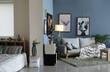 Leinwandbild Motiv Stylish interior of modern studio apartment