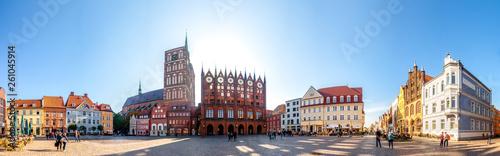 Leinwandbild Motiv Marktplatz Stralsund, Deutschland
