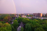 Fototapeta Tęcza - regenbogen über hannover © fotobild40