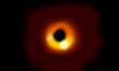 Leinwandbild Motiv simulatin of a black hole in the space