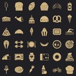 Sweet calories icons set. Simple style of 36 sweet calories vector icons for web for any design