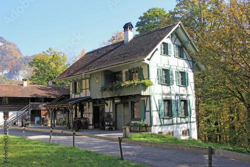 canvas print picture Haus, Alpen, Schweiz