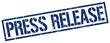 press release blue grunge square vintage rubber stamp