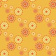 floral pattern. yellow background - 261105714