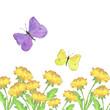 Flying butterflies and dandelions