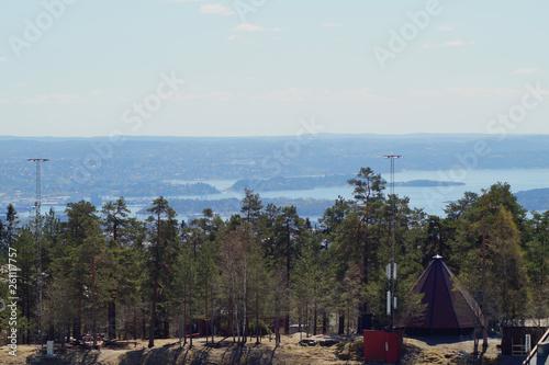 canvas print picture Ein Panoramafoto mit Blick auf den Oslo Fjord