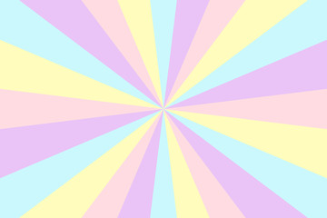 Sunburst background. Stripes in retro pop art style