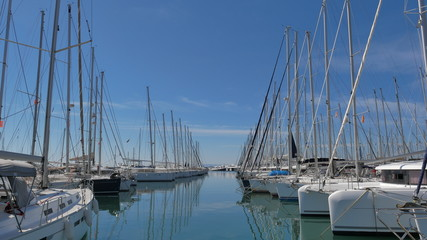 Yachts in the marina. Greece