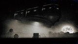 concept art of strange alien space craft in the nature