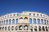 Roman amphitheater Pula. Arena ancient Roman times. Architecture Croatia.