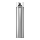 Aluminum Spray Can. Aerosol Bottle. Paint Tin with Cap. Deodorant or Hairspray 3d Cosmetic Cylinder Tube. Silver Antiperspirant Template. Compressed Foam Chrome Packaging with Plastic Lid.