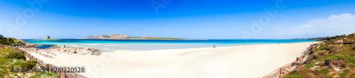 Panoramic view over the beach of La Pelosa, Sardinia - 261220528