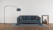 Blue sofa in a minimalist living room - 261230392