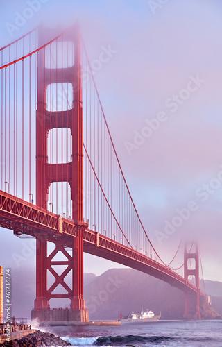 Golden Gate Bridge at morning, San Francisco, California