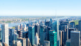 Manhattan skyscrapers from above, New York City
