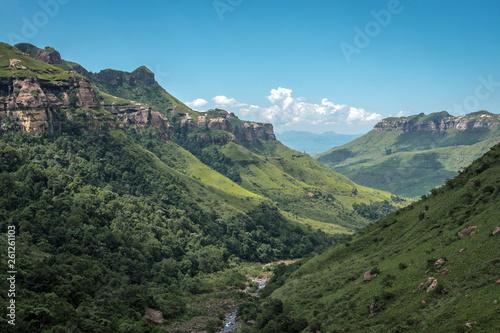 canvas print picture Die Drakensberge in Südafrika und Lesotho