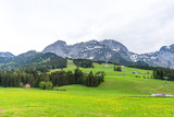 Amazing panoramic view of Abtenau, small village in the mountains in Austria.