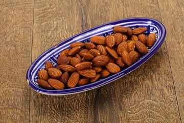 Almonds nuts heap