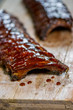 canvas print picture - Spareribs in Marinade gegrillt