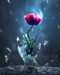 Tulip bursting from light bulb - 261388788