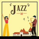 International Jazz Day Vector Template Design Illustration
