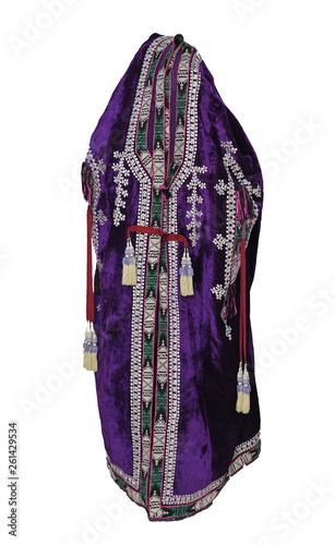 national Eastern outerwear on white background. Asian, Uzbek chapan © warloka79