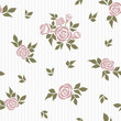 Seamless pattern with roses. Vector pattern with roses for background, textile, print. - 261459761
