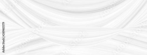 Graphic symmetrical pattern for wallpaper and packaging for various purposes. The background is gray and white with a gradient texture of stripes, lines, waves and geometric shapes. - 261463579