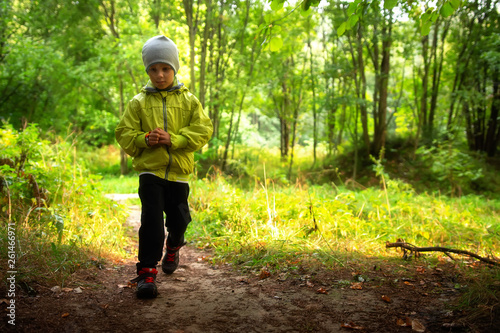 Child in forest park alone