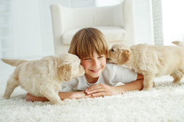 Child with a dog  © nuzza11
