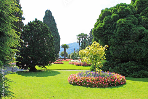 canvas print picture Landscape design on the island of Isola Bella on lake Maggiore in Italy