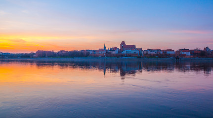 Torun old town at amazing sunset, Poland © cone88