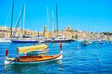 The wooden luzzu boat, Birgu, Malta