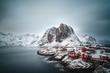 canvas print picture - Winter in Skandinavien