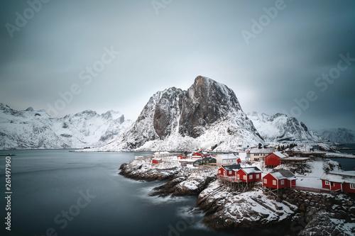 canvas print picture Winter in Skandinavien