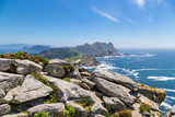 Cies Islands, Spain. View of the islands of the archipelago