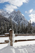 canvas print picture - Alpen, Winter in den Bergen der Sextener Dolomiten, Südtirol, Pustertal, Italien