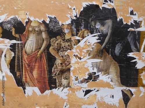 canvas print picture Plakatwand abgerissen