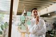 Environmental portrait of a furniture designer maker in his workshop