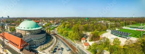 canvas print picture Kongresszentrum und Fussballstadion, Hannover, Deutschland
